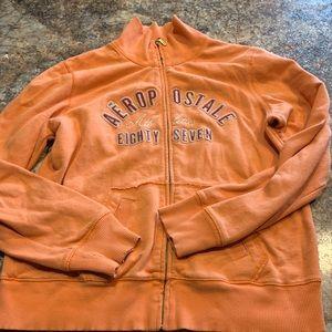 Orange Aeropostale zip up jacket